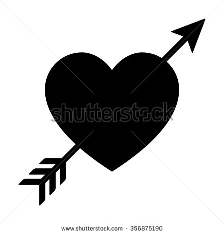 Black heart arrow clipart graphic royalty free download Black And White Heart Arrow Clipart - clipartsgram.com graphic royalty free download
