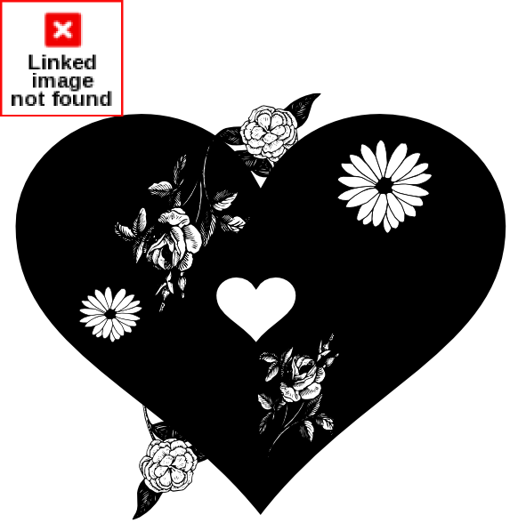 Black Heart Clip Art at Clker.com - vector clip art online, royalty ... clip black and white library