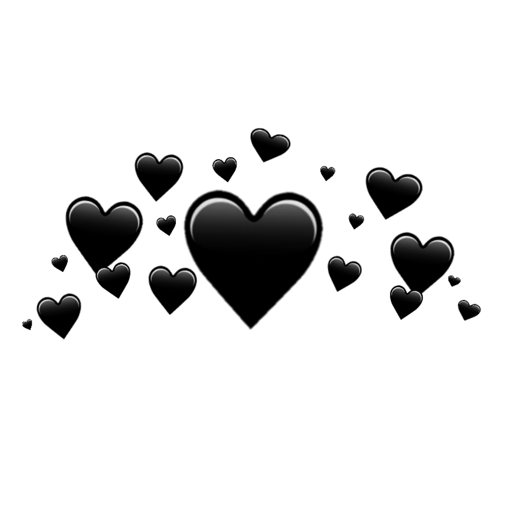 Heart with crown clipart transparent image black and white stock ♥ Black heart crown ♥ black heart crown blackhear... image black and white stock