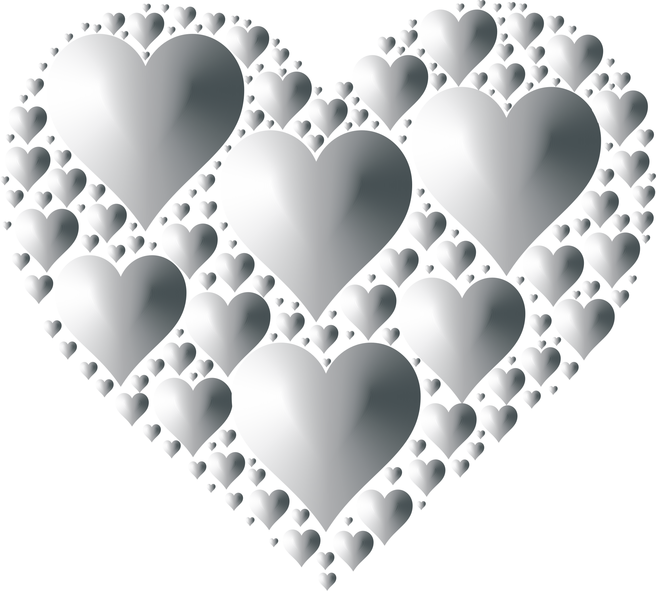 Clipart - Hearts In Heart Rejuvenated 6 No Background graphic royalty free download