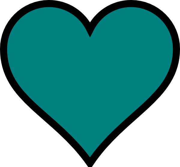 Teal, Heart, Black, Decor Clip Art at Clker.com - vector clip art ... clip art freeuse library