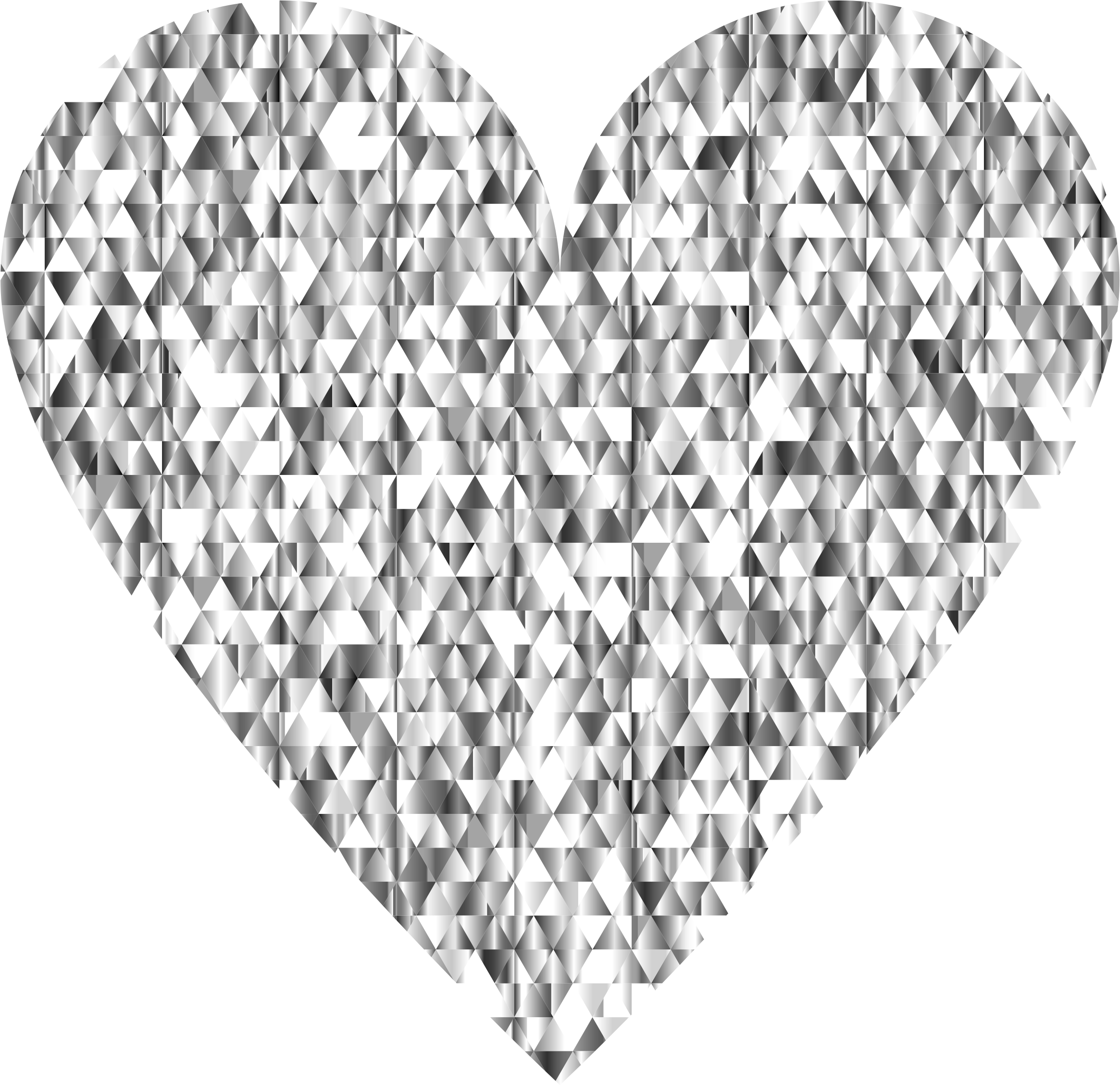 Clipart - Diamond Gemstone Heart No Background clip stock