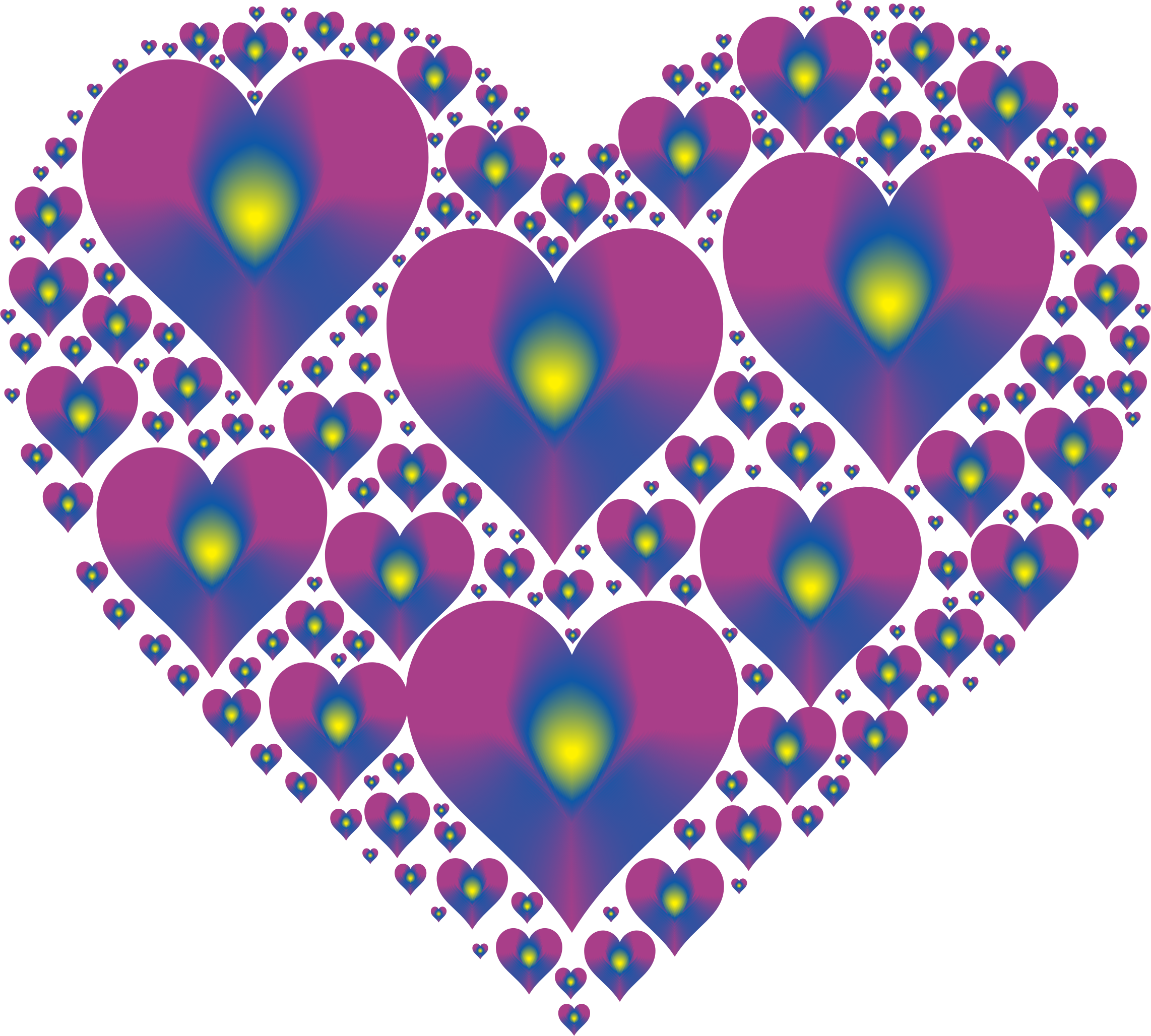 Clipart - Hearts In Heart Rejuvenated 16 No Background png freeuse