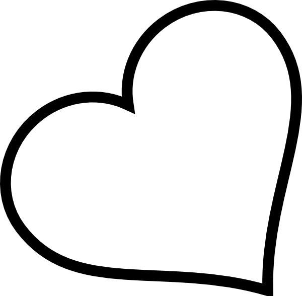 Small black heart clipart clipart black and white library Black Heart Tilted Clip Art at Clker.com - vector clip art online ... clipart black and white library