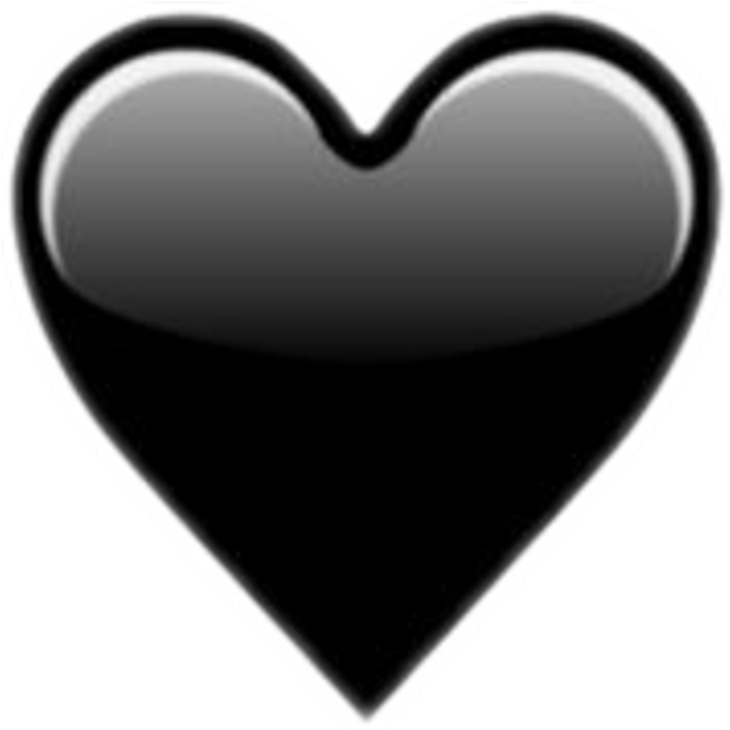 Black heart clipart png png black and white stock Emoji domain Heart Sticker Clip art - girl heart 1024*1024 ... png black and white stock