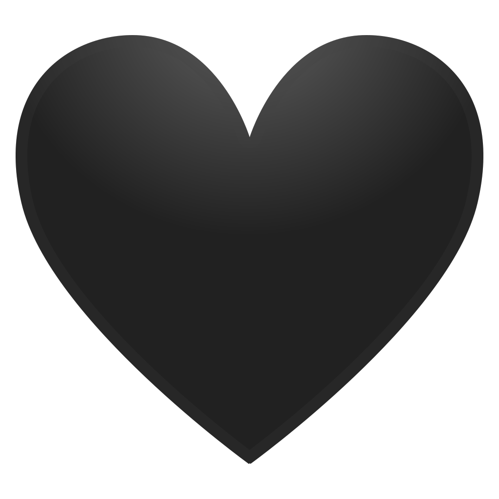 Black heart Icon | Noto Emoji People Family & Love Iconset | Google clipart stock