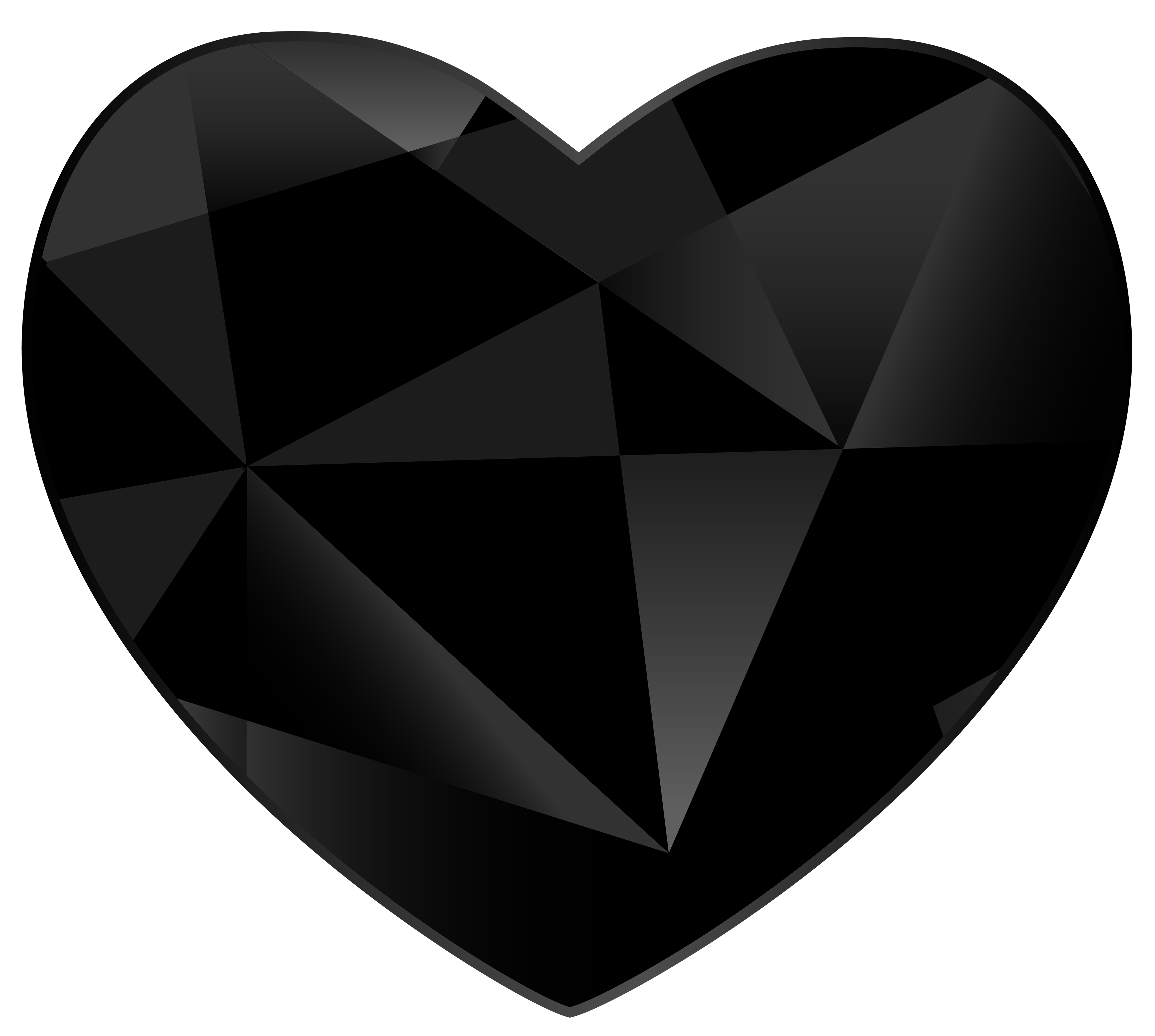 White heart clipart transparent picture royalty free download Black Gem Heart PNG Clipart - Best WEB Clipart picture royalty free download
