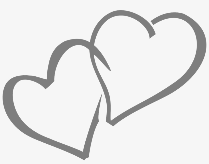 Black heart clipart transparent double picture black and white Double Heart Clipart Black And White - Wedding Hearts - Free ... picture black and white