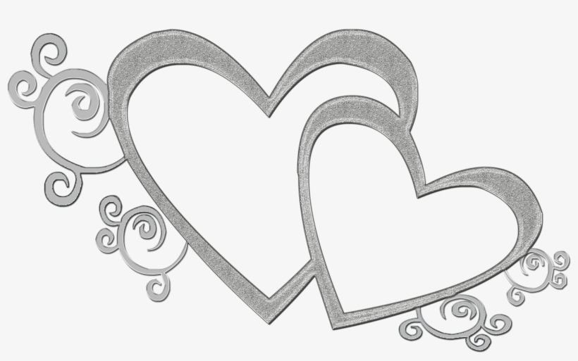 Black heart clipart transparent double svg black and white library Heart Black And White Double Heart Clipart - Clip Art Wedding Day ... svg black and white library