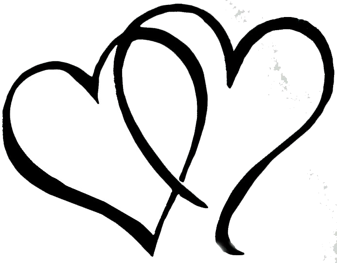 Black heart clipart transparent double svg freeuse Wedding Double Heart Clipart Transparent Png - AZPng svg freeuse