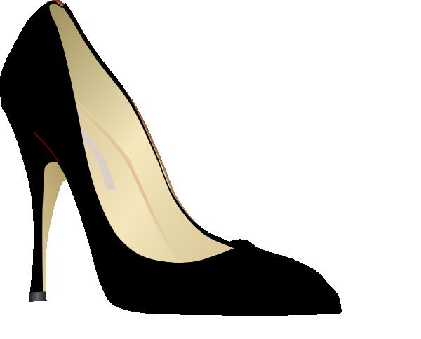 Black high heels clipart banner freeuse Black High Heel Clip Art at Clker.com - vector clip art online ... banner freeuse