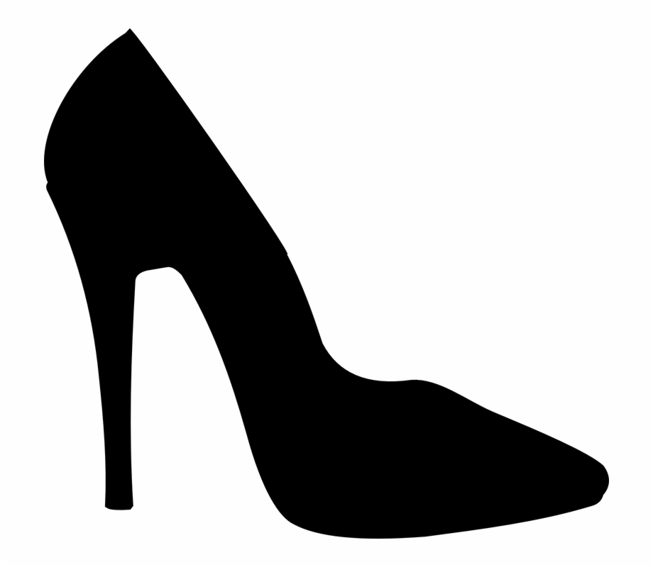 Black high heels clipart free