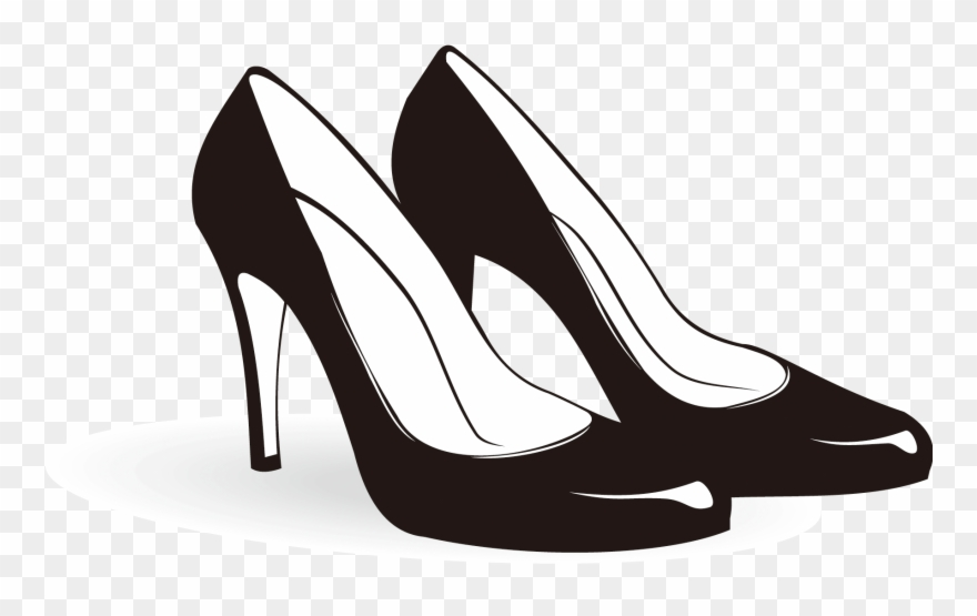 Clipart high heels graphic black and white Shoe High-heeled Footwear Sneakers Clip Art - High Heels Clipart ... graphic black and white