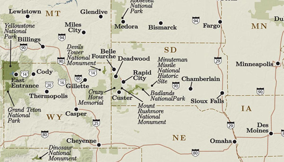 Black hills national forest clipart vector transparent download Black Hills and Badlands National Park PDF Maps - My Yellowstone Park vector transparent download