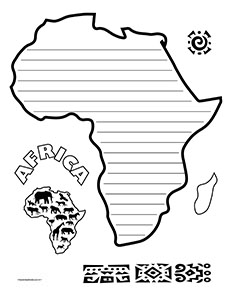 Black history clipart borders svg free Black History Africa- Portrait- Wide svg free
