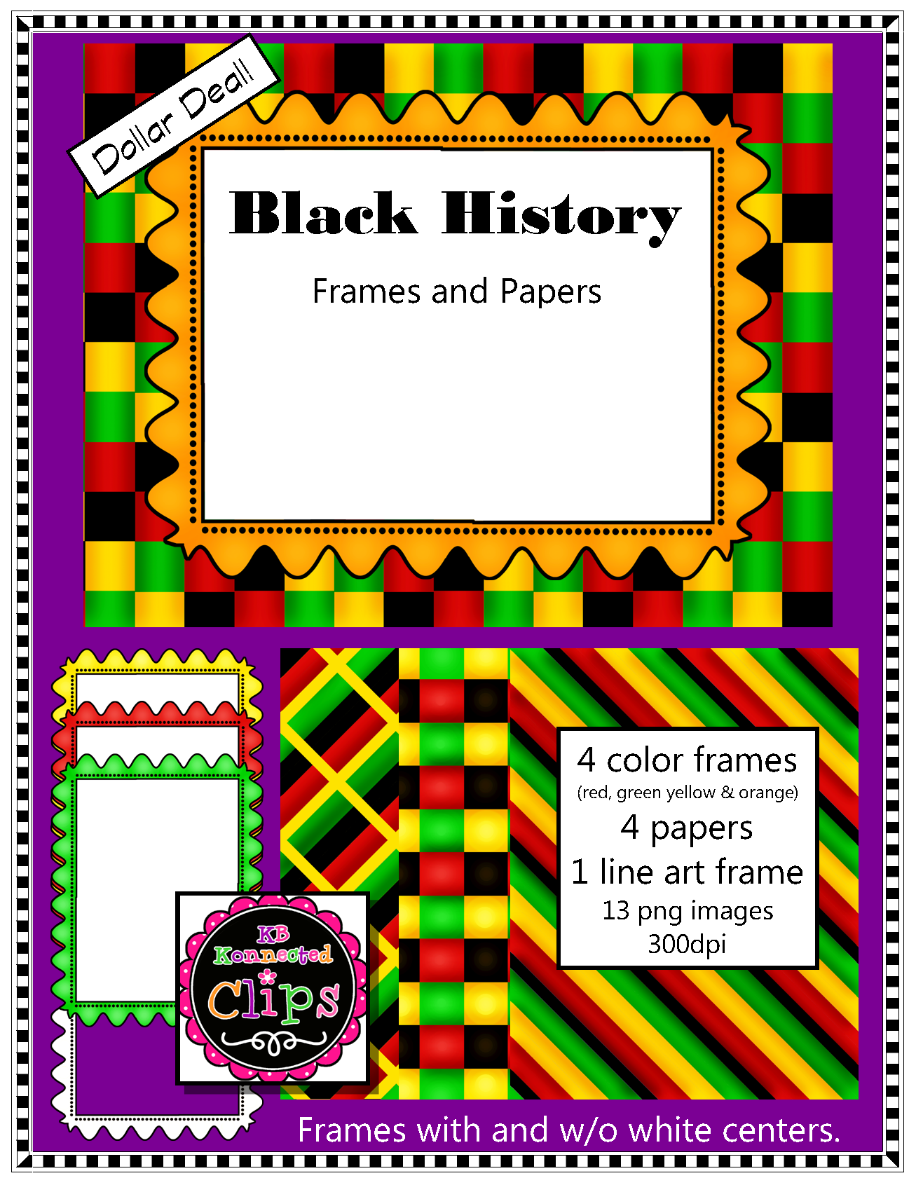 Black history clipart borders svg Black History Paper & Frame Collection - Dollar Deal   TPT clipart ... svg
