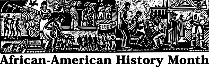 Black history month black and white clipart banner royalty free This week in black history: The history of Black History Month – The ... banner royalty free