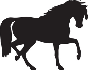 Black horses clipart vector library Black Horse Silhouette Clip Art at Clker.com - vector clip art ... vector library