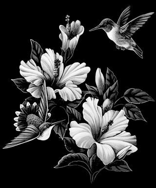 Black hummingbird etch clipart clip black and white download hummingbird on gravestone | To view our single item etchings click ... clip black and white download