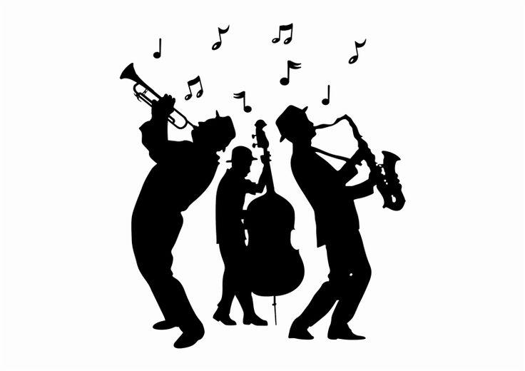 Black jazz musicain clipart