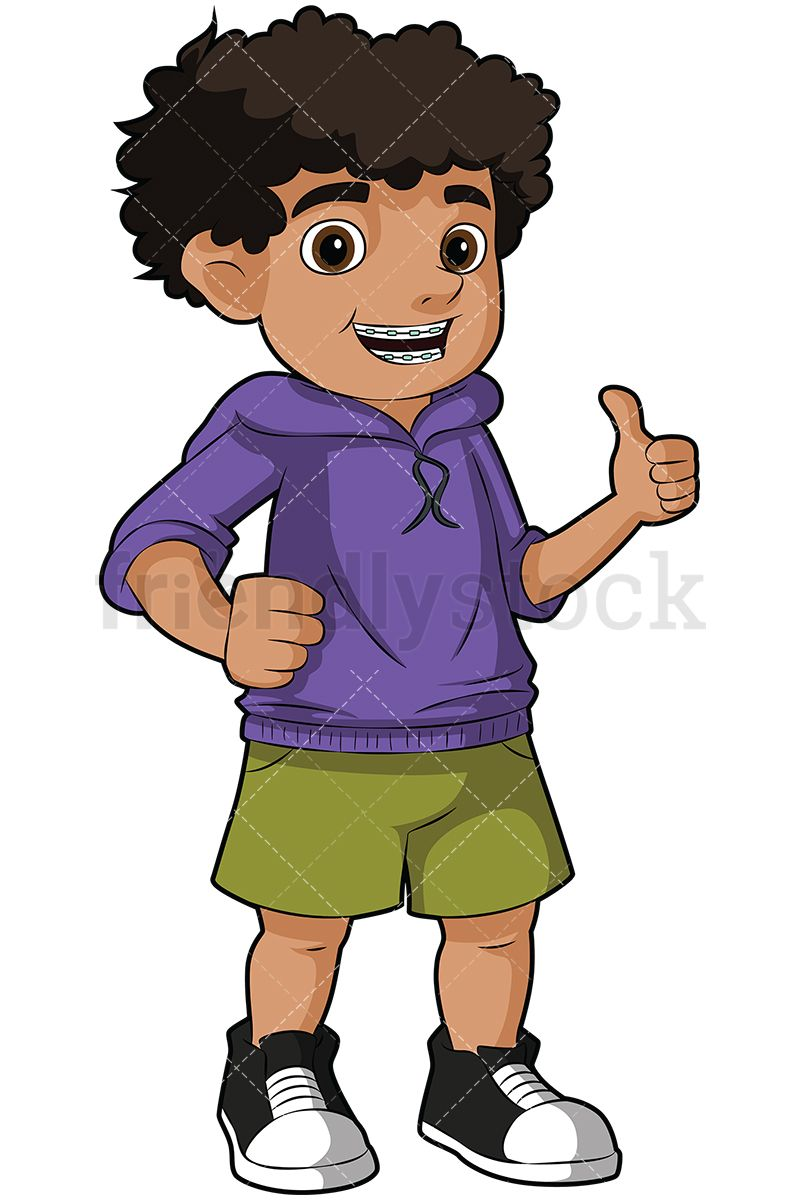 Black kids clipart clip art free library Black Boy Wearing Braces Giving The Thumbs Up | Kids Clipart | Black ... clip art free library