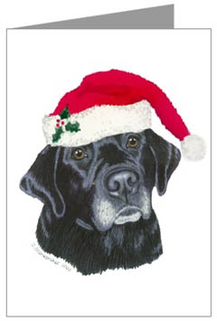 Black lab christmas clipart png library download Labrador Retriever Christmas Cards, Ornaments & Decor png library download