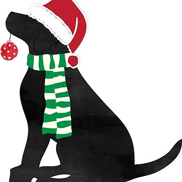 Black lab christmas clipart clip art freeuse library Nautical Preppy Black Lab Aboard The Christmas Salty Dog | Sticker clip art freeuse library