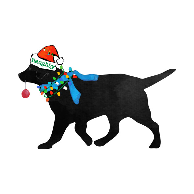 Black lab christmas clipart picture freeuse Christmas Black Lab Naughty Dog picture freeuse