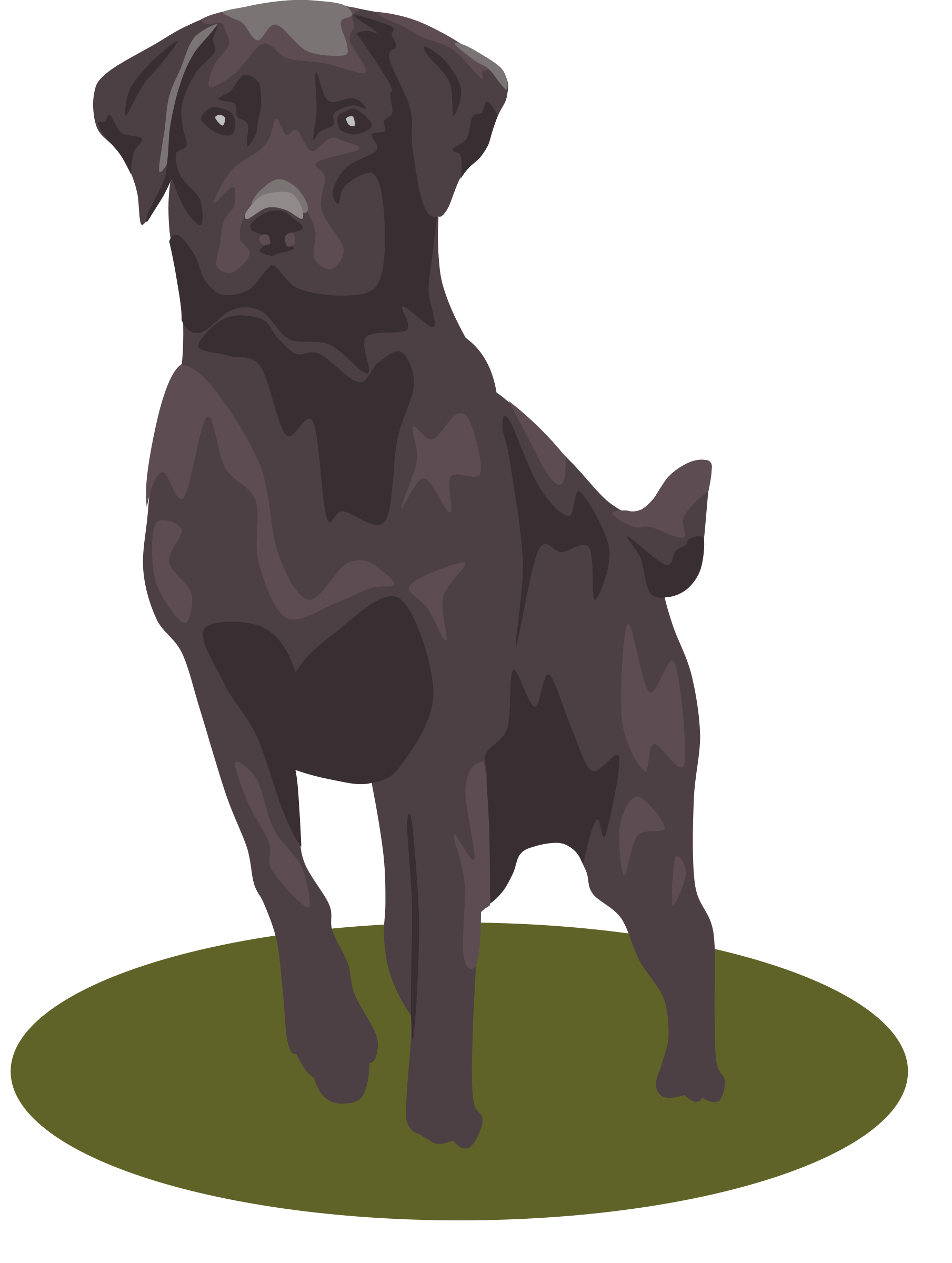 Clipart of black lab dog png free stock Clipart - Black Lab png free stock