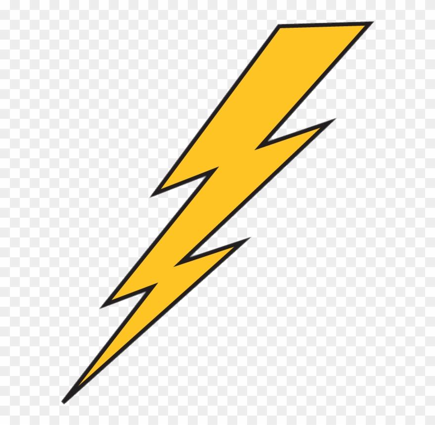 Black lightning bolt high resolution clipart clip freeuse stock Download Lightning Bolt Yellow With Black Outline Transparent ... clip freeuse stock