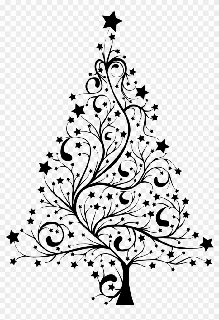 Black line christmas clipart png royalty free Christmas Clipart Black And White - Clipart Junction png royalty free