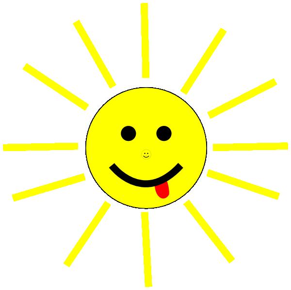 Black line smiling sun clipart jpg transparent library Funny Sun Face Cartoon Clip Art at Clker.com - vector clip art ... jpg transparent library