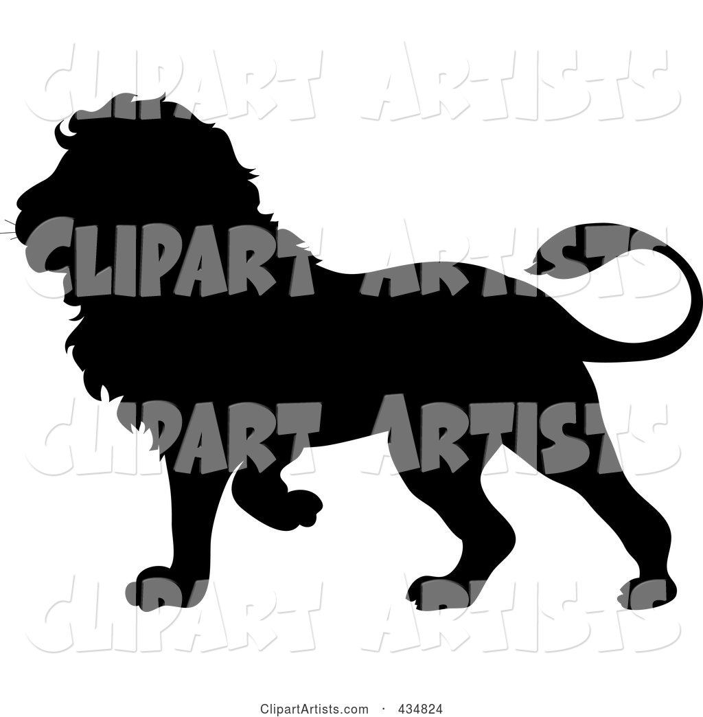 Black lion clipart library Black Lion Silhouette Clipart by Rogue Design and Image (pamela) library