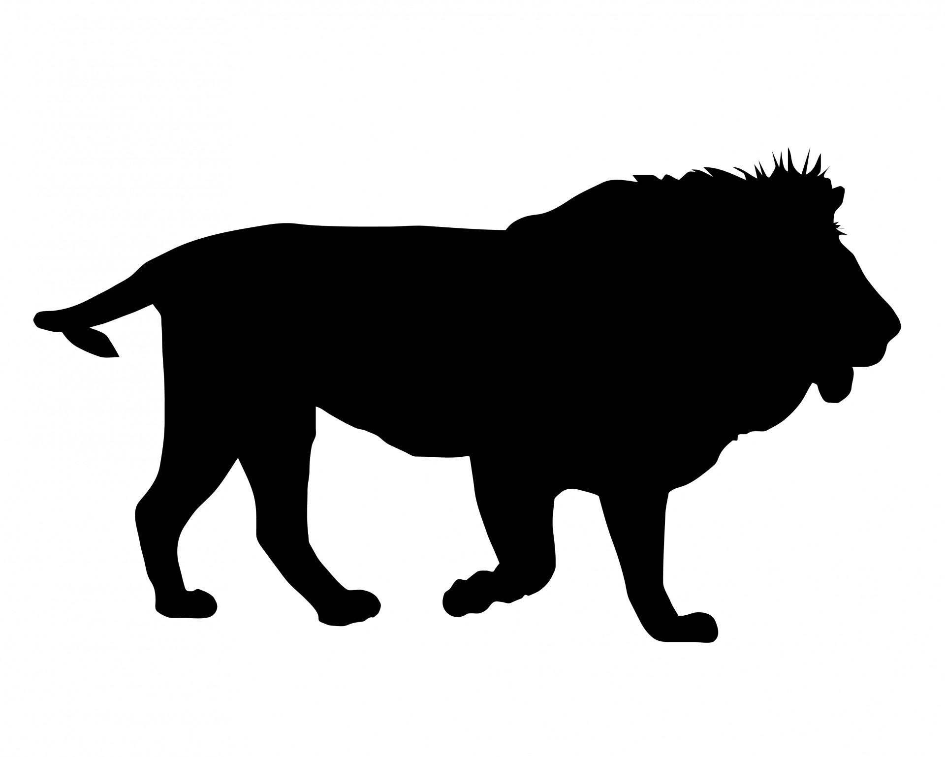 Black lion clipart jpg royalty free stock Black lion silhouette clipart free image jpg royalty free stock