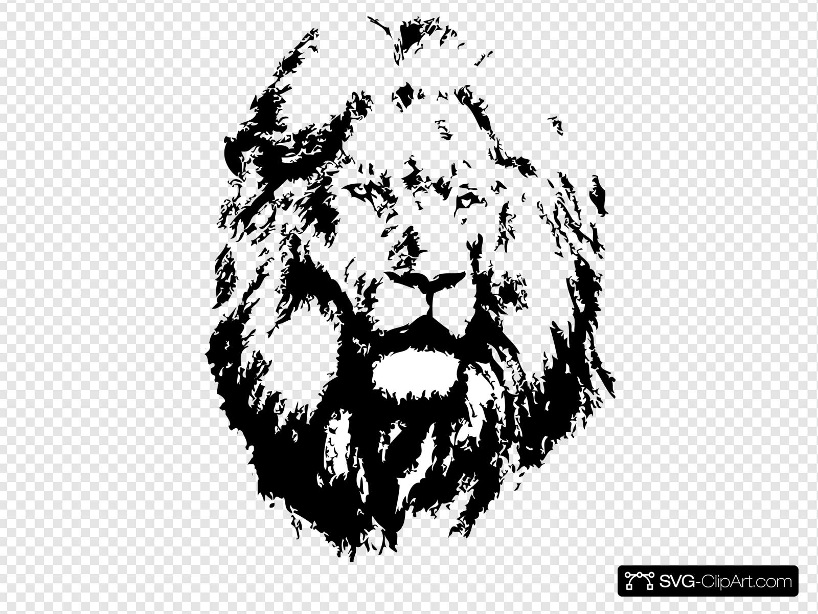 Black lion clipart picture free download Black Lion Clip art, Icon and SVG - SVG Clipart picture free download