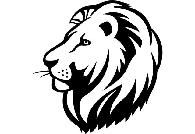 Black lion clipart free stock Lion black and white lion clipart lionclipart animals clip art black ... free stock