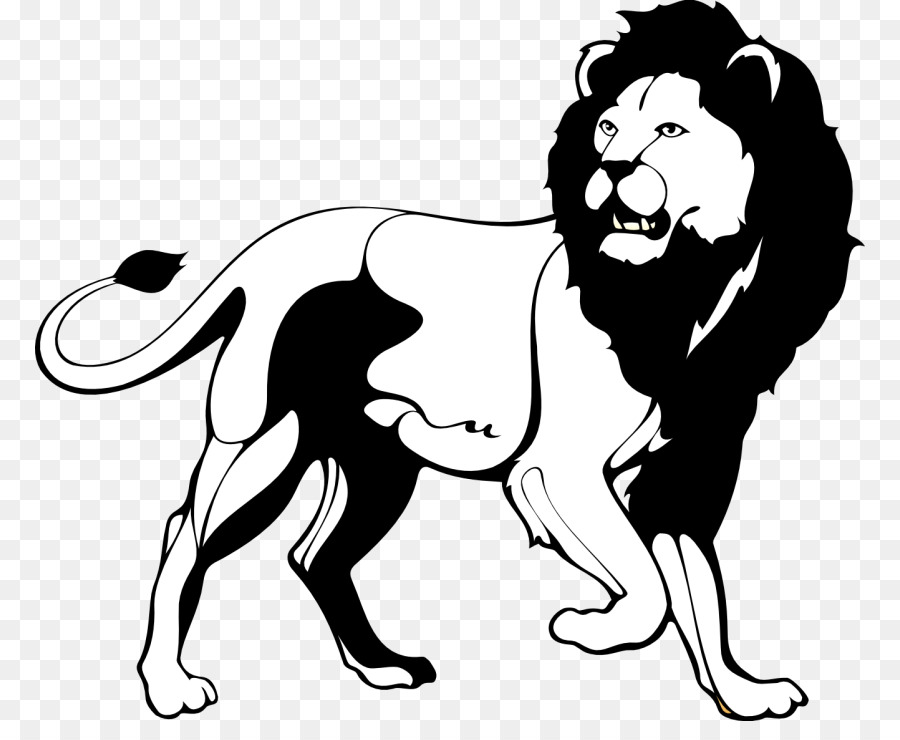 Black lion clipart picture free library Lion Black And White Roar Clip Art - Bla #252690 - PNG Images - PNGio picture free library