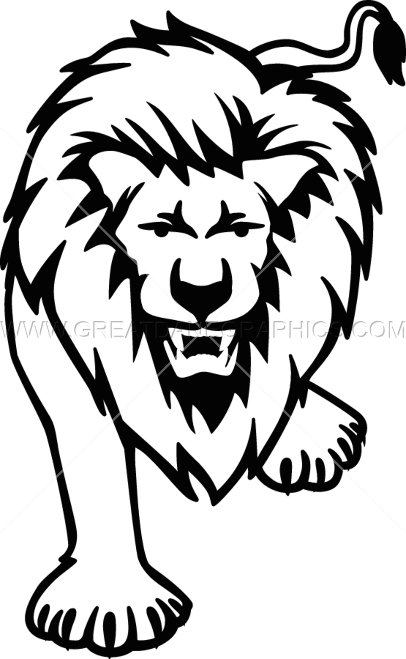 Lion Drawing Black And White at GetDrawings.com | Free for personal ... banner library