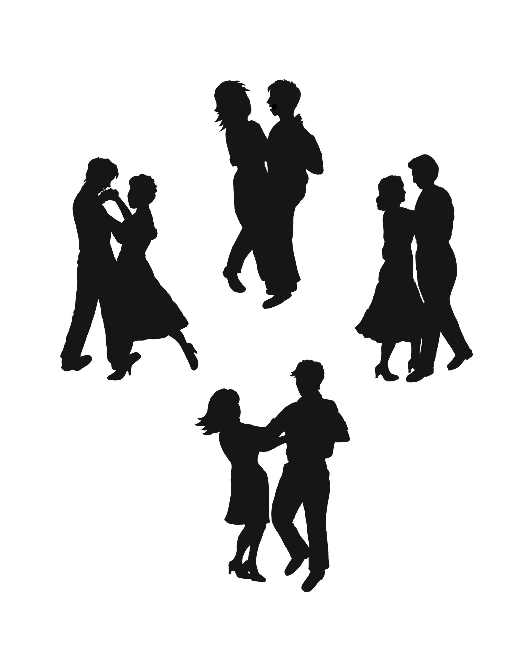 Black love dancing clipart image library download Dancing Silhouette | Silhouette Jewelry Inspiration | Kids ... image library download