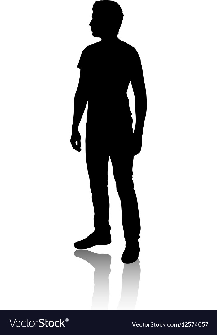 Black man clipart facing sideways picture royalty free download Silhouette of a man who stands sideways vector image picture royalty free download