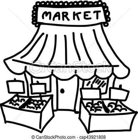 Black market clipart image black and white stock Market black and white clipart » Clipart Portal image black and white stock