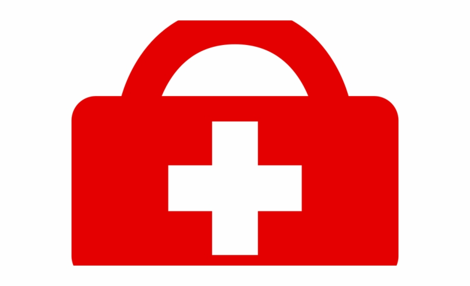 Closed black medical bag with red cross clipart vector free library Red Cross Clipart Icon Red - Clipart First Aid Kit Free PNG Images ... vector free library