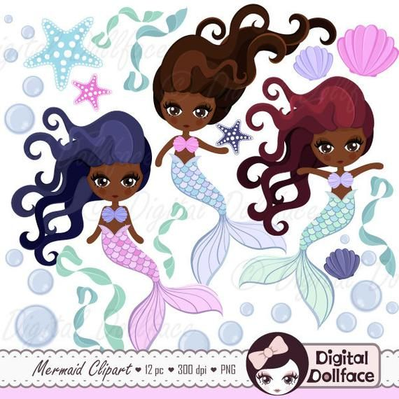 Black mermaid with beads clipart clip library stock Black Mermaid / African American Art (Clip Art)   Products   Black ... clip library stock