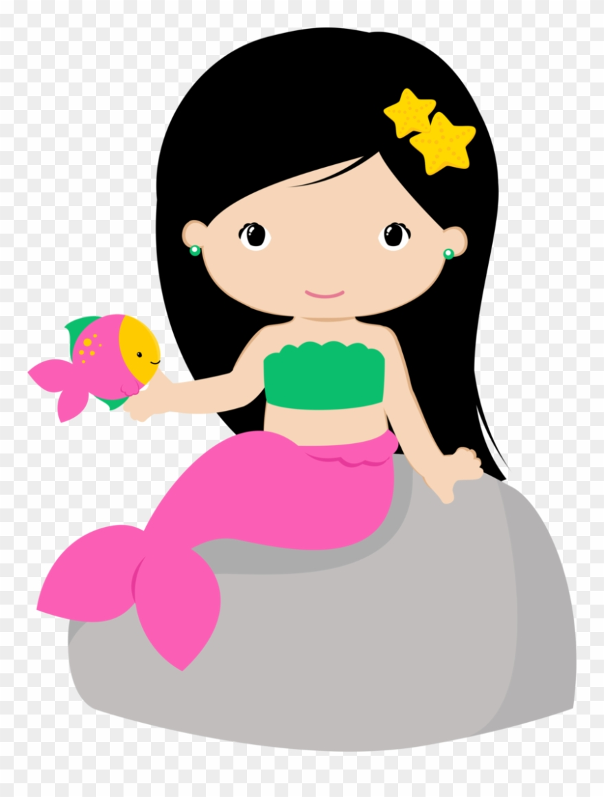 Black mermaid with beads clipart banner free download View All Images At Png Folder - Mermaid Clipart Transparent Png ... banner free download