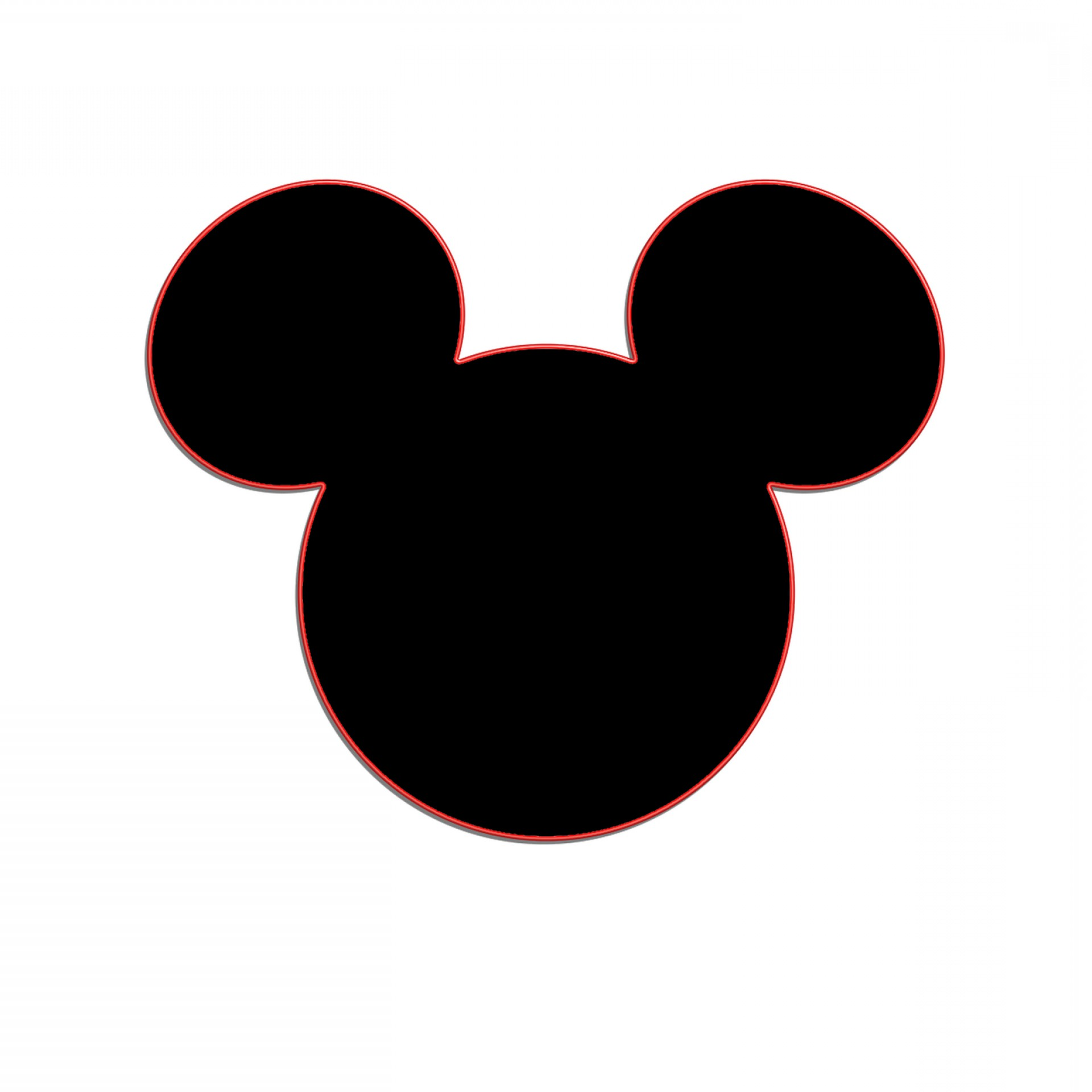 White mouse ears clipart picture freeuse library Mickey Mouse Ears Clipart Black And White   SOIDERGI picture freeuse library