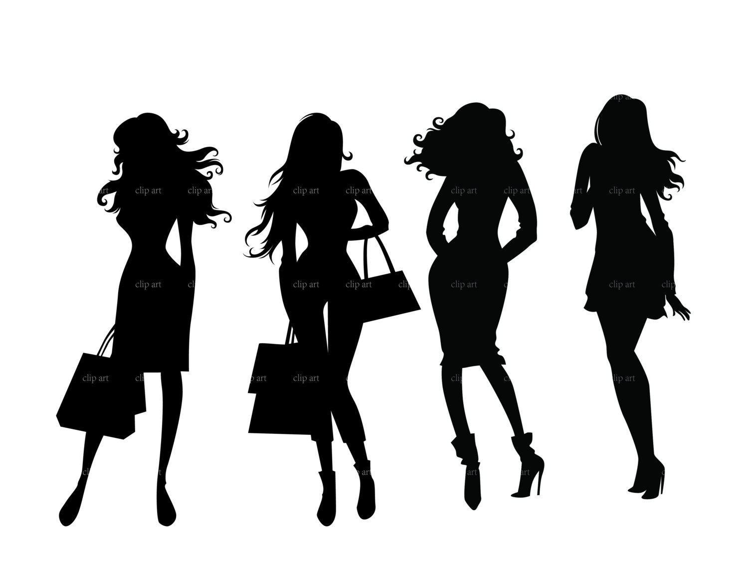 Black models clipart picture black and white Free Boss Silhouette Cliparts, Download Free Clip Art, Free Clip Art ... picture black and white