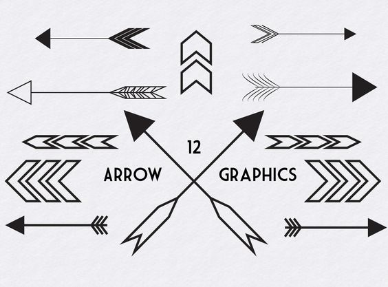 Black modern arrow clipart image freeuse download Black Arrow Graphics | Creative, The o'jays and Just love image freeuse download