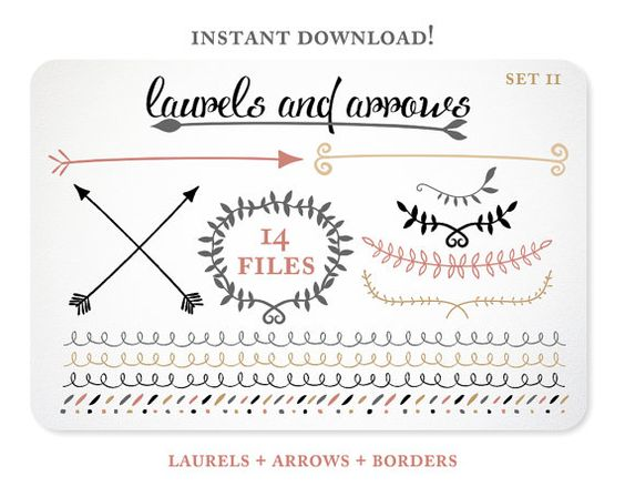 Black modern arrow clipart picture stock Arrow Clip Art | Laurel Clip Art | Arrow Clipart | Digital Clip ... picture stock