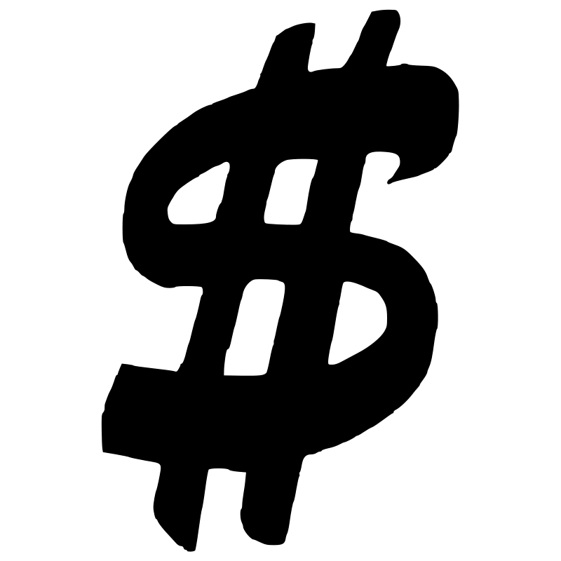 Black money sign clipart svg transparent download Picture Of A Money Sign Group (85+) svg transparent download
