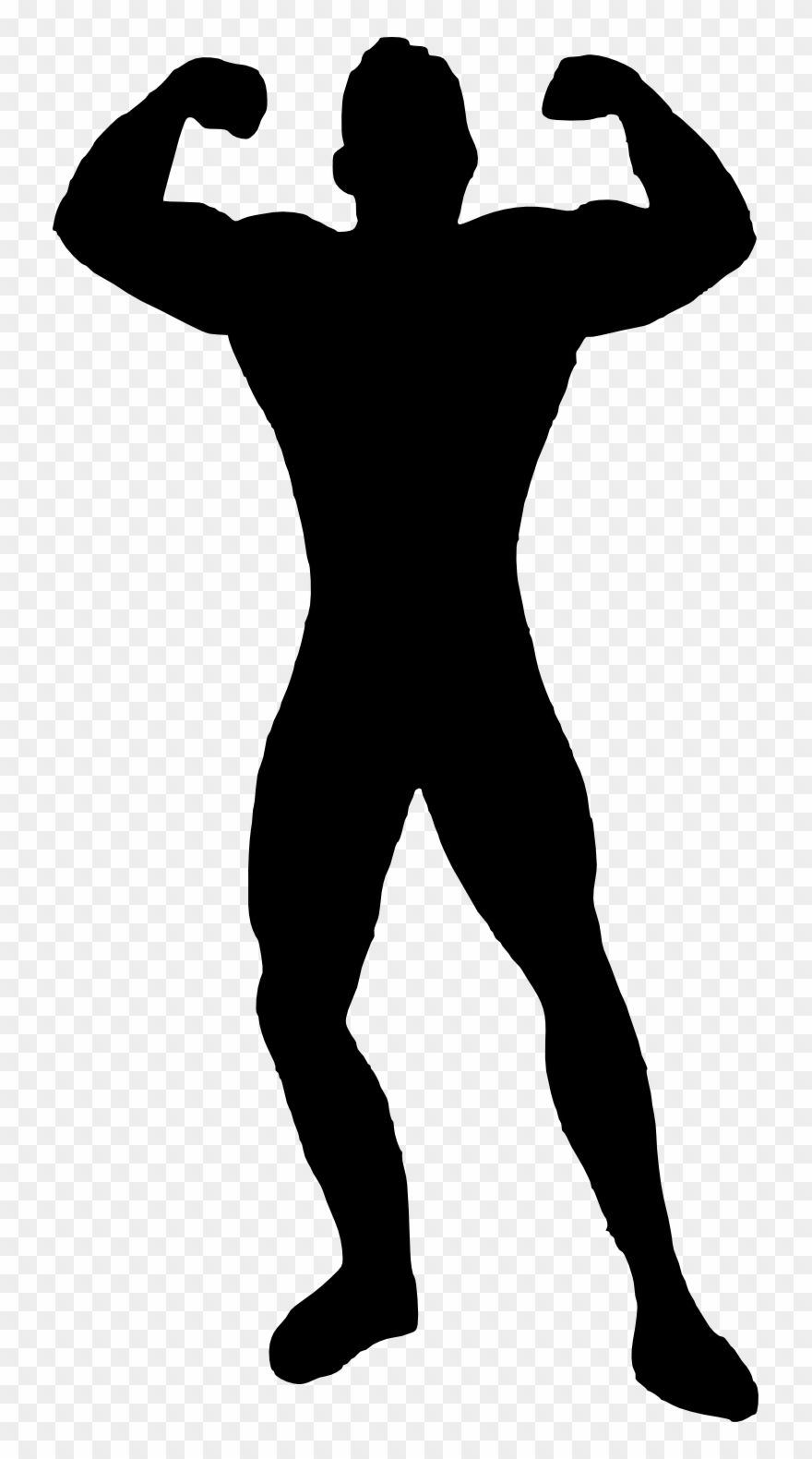 Black muscular guy clipart
